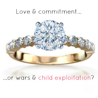 close up of diamond solitaire ring