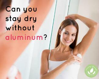 model using natural deodorant
