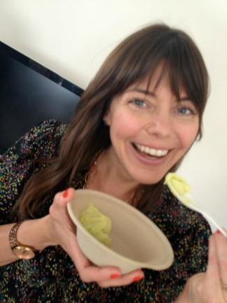 rachel lincoln sarnoff mommy greenest eats vegan avocado ice cream