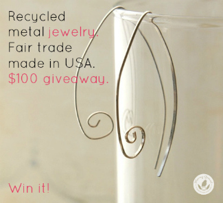 eco recycled silver metal jewelry giveaway