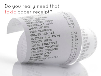 curling paper receipt