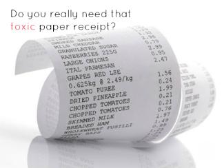 curling paper receipt