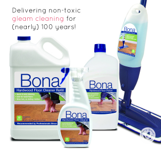 bona floor cleaner grouped with mop
