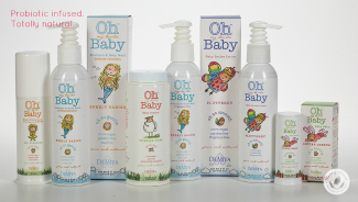 baby products against white background
