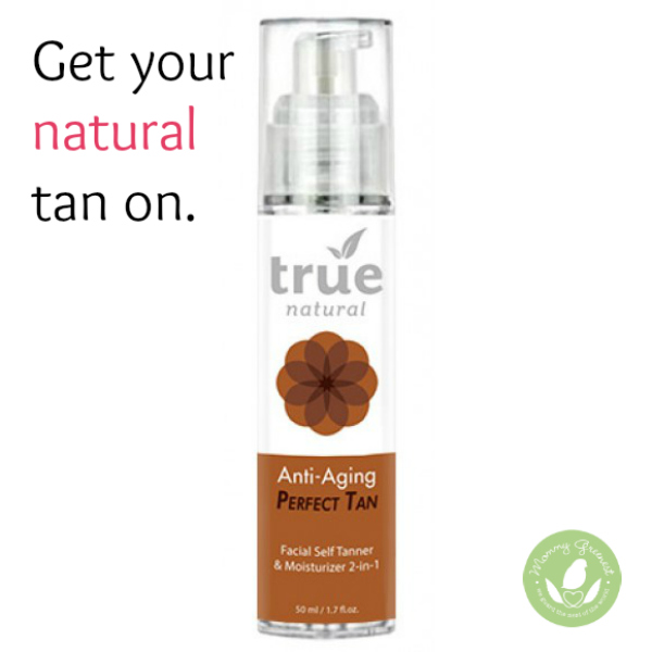 natural self tanner against white background