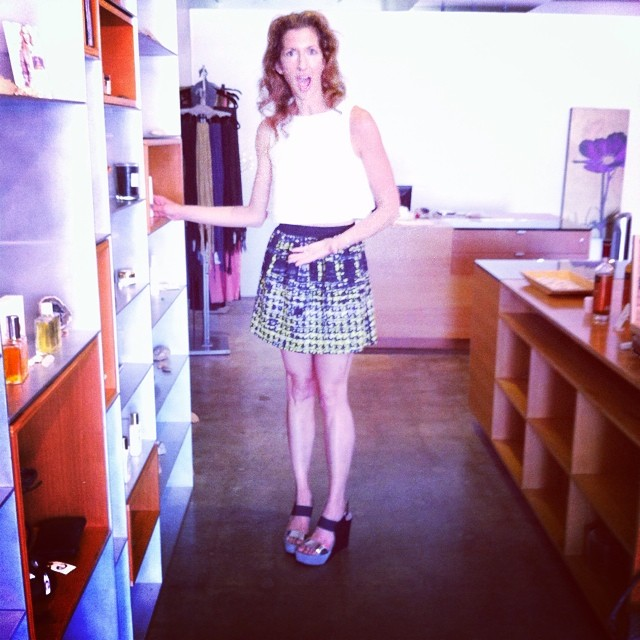 Look who I ran into...! @AlysiaReiner @EvolueBeauty #orangeisthenewblack #oitnb #fig #naturalbeauty #greenbeauty #eco #ecoista