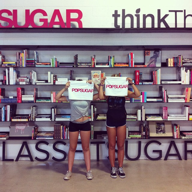 How cute are my girls? Thx for the invite @popsugar! #classfitsugar