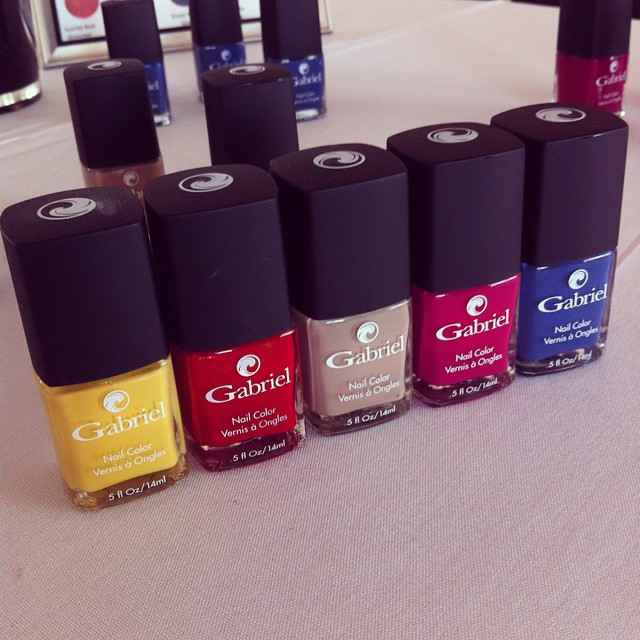 Big 5, gluten free & #vegan polish from @gabrielcosmetics #BurlesqueGabriel @beautyfrosting party! #naturalbeauty