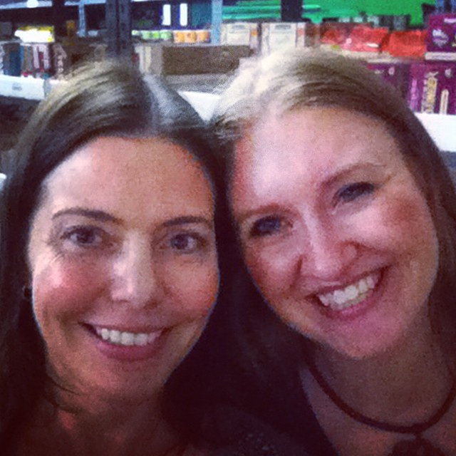Of course @Bookieboo and I found each other at the @thrivemarket launch party! #organic #nongmo #green #eco