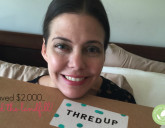thredUP box of eco fashion