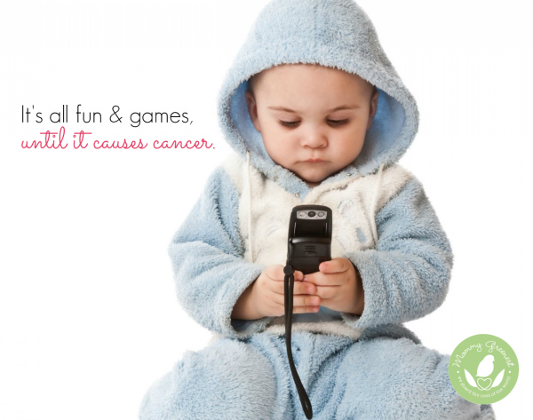 baby plays with wifi cell phone