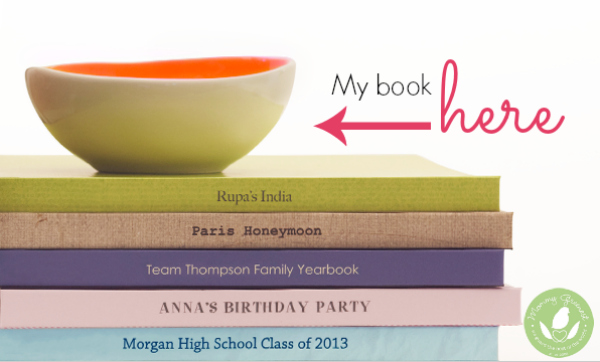 Mommy Greenest Pregnancy Book to go in stack of photo books