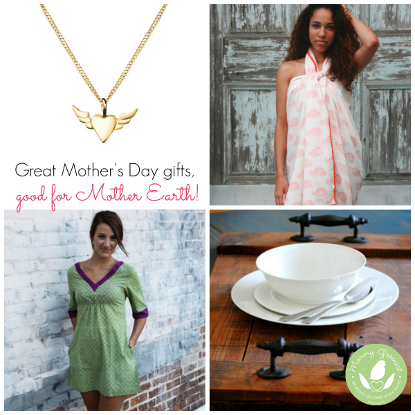 mother's day gift guide dress, wrap, necklace and platter