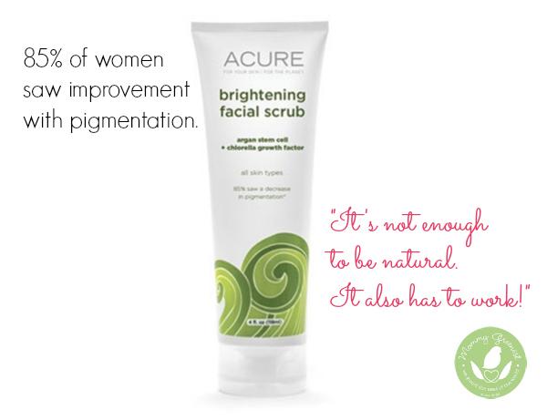 brightening facial scrub against white background