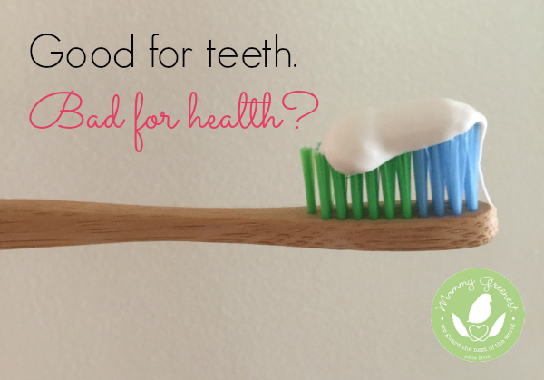 fluoride toothpaste on toothbrush
