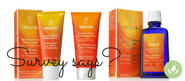 Weleda products for Mommy Greenest survey giveaway