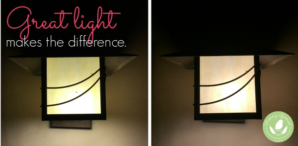 Cree LED lightbulbs outdoor before and after