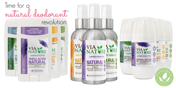 Mommy Greenest Approved Via Nature natural deodorant