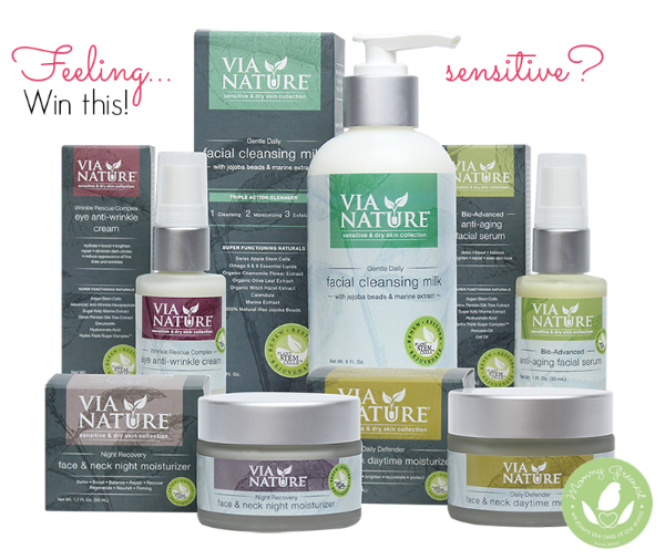 via nature dry and sensitive skin care giveaway