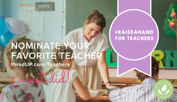 teacher rewards contest from thredup recycled upcycled preloved fashion