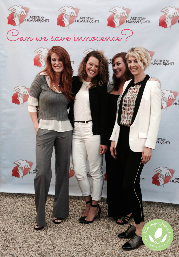 Jenna Elfman and Angie Everhart at Saving Innocence sex trafficking awareness event