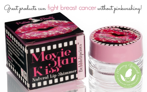 products that fight breast cancer without toxic chemicals on white background