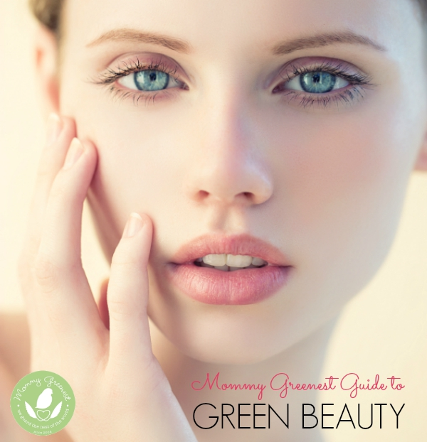 green beauty model close up