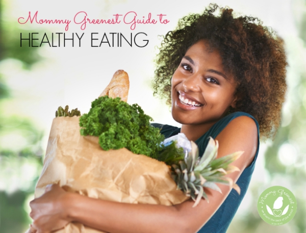 African American woman holding bag of groceries to make healthy eating recipes