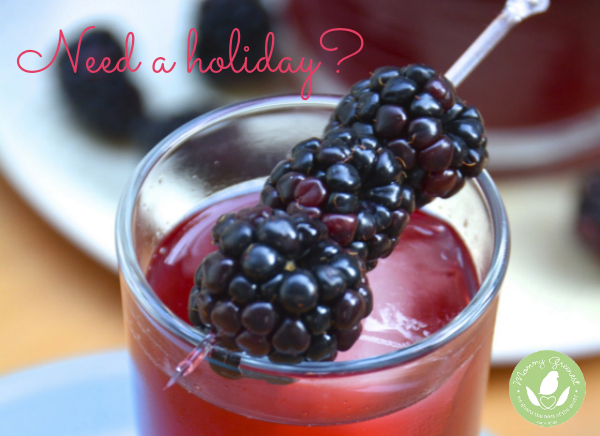 blackberry organic cocktail