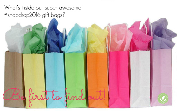 gift bags against white background