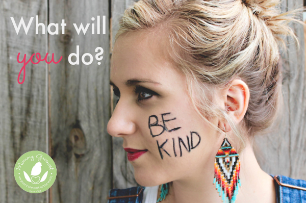 valentine's day random acts of kindness initiative woman with be kind written on her cheek