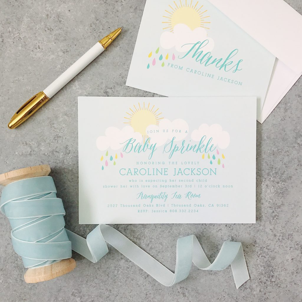 baby shower custom invitations