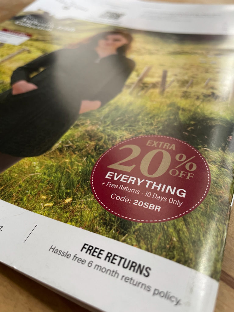 How to stop junk mail: Photo of unwanted junk mail catalogue